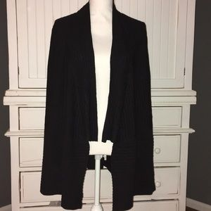 Eileen Fisher open front rubbed cardigan